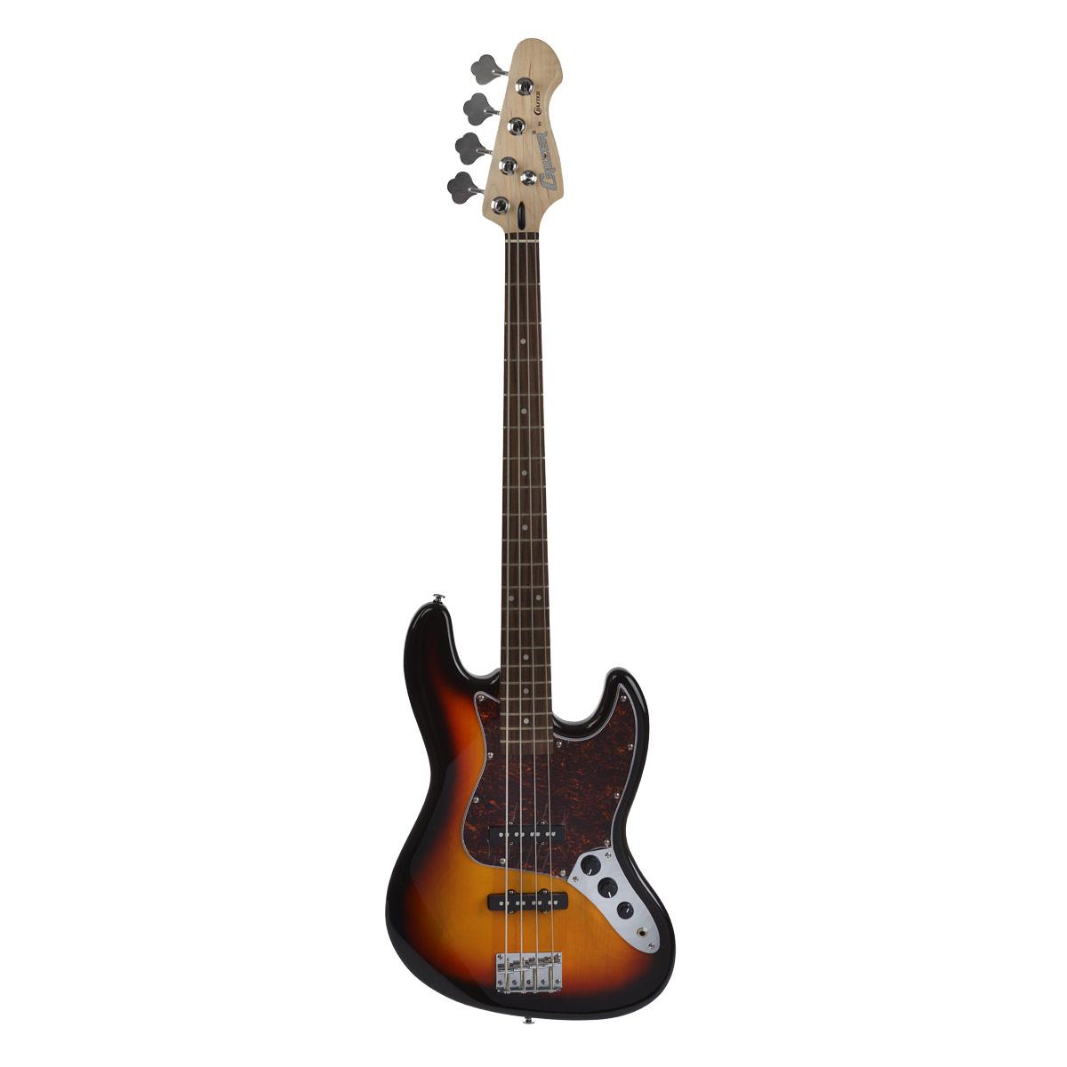 Cruzer JB-450/3TS, Sunburst бас гитараJB-450/3TSCruzer JB-450/3TS – это удобная и практичная гитара с прекрасным соотношением цена-качество без наценки на имя. Эта доступная копия знаменитой гитары Fender JAZZ BASS прекрасно подойдет для игры в различных стилях музыки, таких как фанк, диско, регги, блюз, хэви-метал, джаз, фьюжн и многое другое. Классический для бас-гитар корпус, кленовый гриф с палисандровой накладной позволяют добиться необходимого вам звучания, придавая плотность при жесткой игре, а так же точное глубокое и почти рояльное звучание при мягкой и вибратной игре. Благодаря двум синглам звук становится яркий и звонкий, Cruzer JB-450/3TS идеально подойдет не только для аккомпанемента, но и для соло.