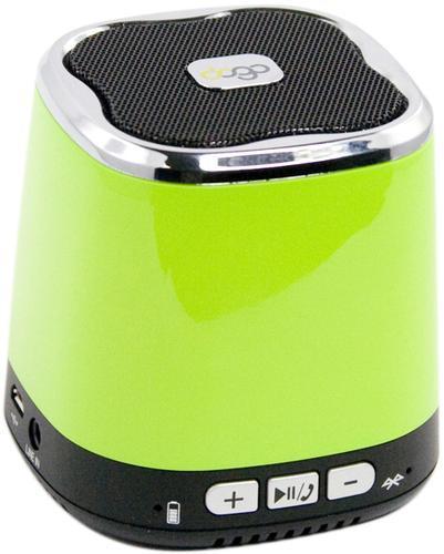 Liberty Project Dogo DG620, Green беспроводная колонкаSM000604Liberty Project DOGO DG620 - это компактная портативная акустическая система, совместимая с большинством аудио устройств. Небольшие размеры и встроенный аккумулятор дают возможность использовать колонки в мобильном режиме, в любом месте, где нет электричества. Скромные с виду динамики обеспечивают вполне серьезную громкость и с легкостью озвучивают небольшое помещение или место пикника, отдыха. Для подключения можно использовать стандартный аудиоразъем 3.5 мм. Liberty Project DOGO DG620 - прекрасное решение для всех, кто хочет слушать любимую музыку в компании и не зависеть от розетки.