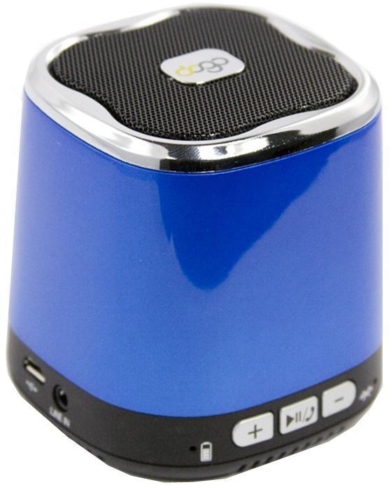 Liberty Project Dogo DG620, Blue беспроводная колонкаSM000603Liberty Project DOGO DG620 - это компактная портативная акустическая система, совместимая с большинством аудио устройств. Небольшие размеры и встроенный аккумулятор дают возможность использовать колонки в мобильном режиме, в любом месте, где нет электричества. Скромные с виду динамики обеспечивают вполне серьезную громкость и с легкостью озвучивают небольшое помещение или место пикника, отдыха. Для подключения можно использовать стандартный аудиоразъем 3.5 мм. Liberty Project DOGO DG620 - прекрасное решение для всех, кто хочет слушать любимую музыку в компании и не зависеть от розетки.