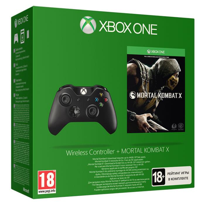 Беспроводной геймпад для Xbox One с игрой Mortal Kombat X6AV-00012Ощутите удобство и точность геймпада для Xbox One в новой части легендарного файтинга Mortal Kombat X. Новые импульсные курки реагируют вибрацией на каждый толчок и столкновение, позволяя проникнуться игровым действием по максимуму. Усовершенствованные аналоговые стики и обновленная крестовина гарантируют высокую точность управления. Батареи скрыты в корпусе, благодаря чему геймпад удобнее лежит в руке. Играете ли вы с использованием крестовины или мини-джойстика, точность управления позволит вам всегда добиваться отличного результата в любой игре. Благодаря 40 новшествам и улучшениям это просто лучший геймпад в истории Xbox.