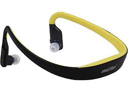 SmartBuy Sport Pro SBH-2130, Black Yellow стерео Bluetooth-гарнитураSBH-2130Портативная Bluetooth-гарнитура SmartBuy Sport Pro со встроенными МР3 плеером и FM-радио - идеальное решение для прослушивания любимых композиций во время активного отдыха или занятий в спортзале. Эргономичная затылочная дужка и внутриканальные наушники с мягкими силиконовыми насадками способствуют комфортному использованию устройства в течение длительного времени. Кнопка приема вызовов, расположенная на одном из наушников, позволяет одним движением ответить на входящий звонок, не вынимая телефон из кармана. Время автономной работы гарнитуры в режиме разговора до 12 часов и до 40 часов в режиме ожидания. Питается SmartBuy Sport Pro от встроенного аккумулятора, который можно подзарядить от любого USB-порта.