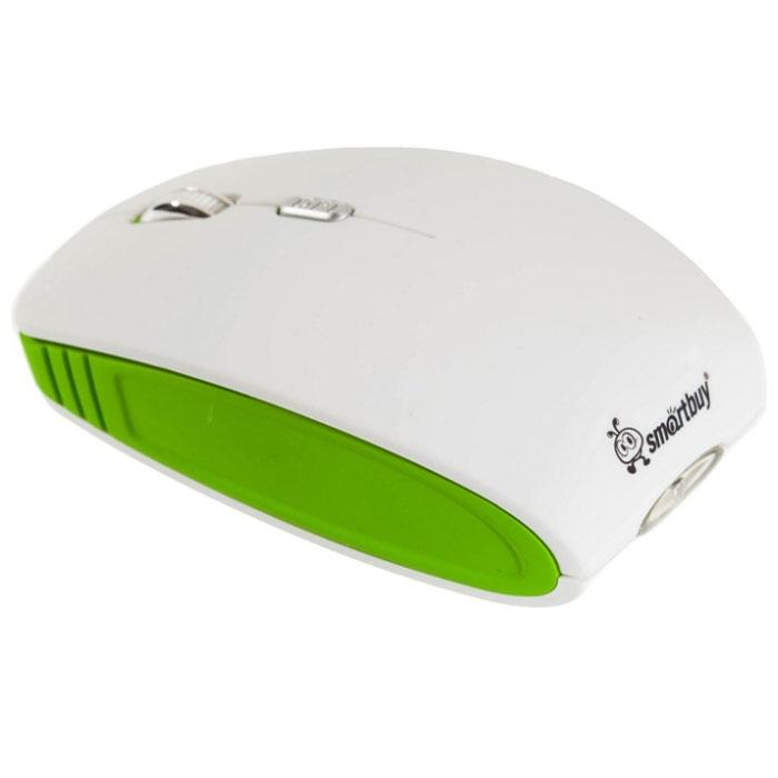 Smartbuy SBM-336CAG-WN, White Green беспроводная мышь с зарядкой от USBSBM-336CAG-WNБеспроводная оптическая мышь SmartBuy SBM-336СAG предназначена для комфортной работы с ноутбуком или ПК. Высокочувствительный сенсор и кнопка выбора разрешения (1000/1500/2000 dpi) обеспечивают точное позиционирование курсора. Симметричный дизайн корпуса подходит для управления любой рукой. Мышь работает от одного аккумулятора типа AA. Подзарядить устройство можно от USB порта компьютера. Режим экономии энергии позволяет продлить время работы от аккумулятора. Простая установка, не требуются драйверы и дополнительное ПО для подключения.