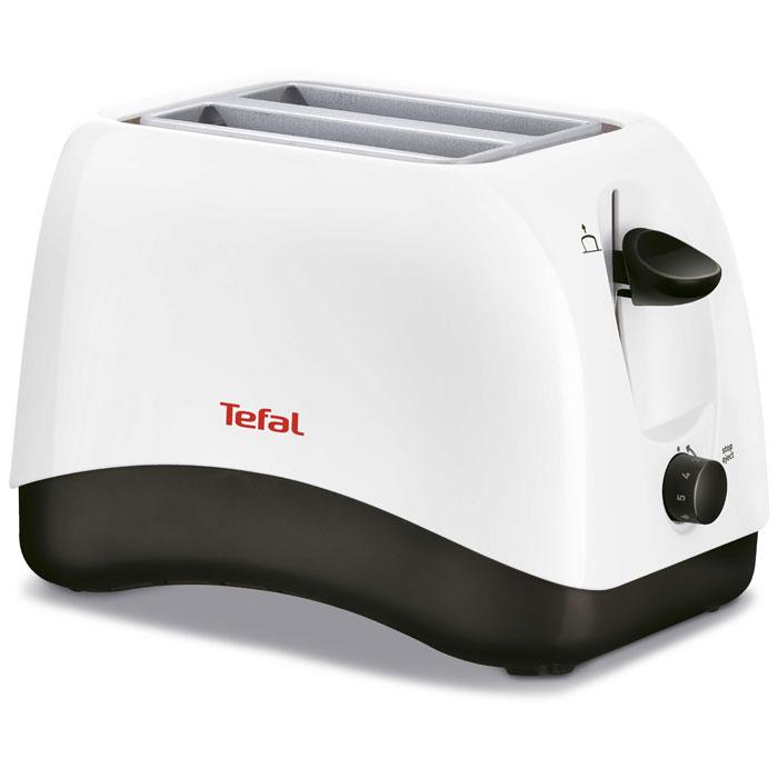 Tefal TT130130 Delfini тостерTT130130Tefal TT130130 Delfini - компактный и надёжный тостер с современным дизайном. Два широких отделения прибора идеально подходят как для толстых, так и для тонких ломтиков хлеба. Для удобного извлечения имеется высокий подъем тостов. Все функции активируются при помощи одного регулятора (включая разморозку и остановку). Лоток для крошек позволяет содержать тостер в чистоте.