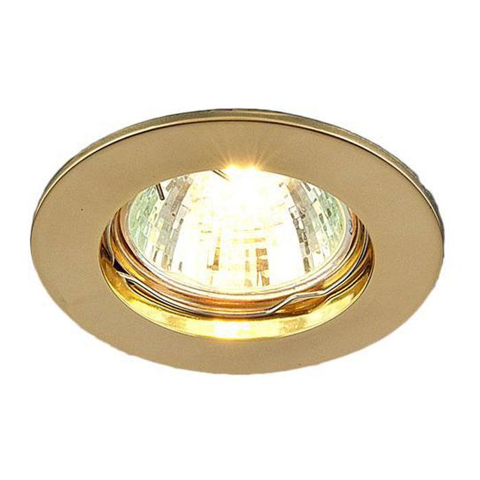 Точечный светильник Elektrostandard 863A GD (золото)a030072Точечный светильник Elektrostandard 863A GD может использоваться в любых помещениях – спальня, кухня, ванная, или торговые и производственные помещения. Он подходит для натяжных, подвесных и реечных потолков. Благодаря особой технологии нанесения красителя и гальваники, светильники могут быть использованы в помещениях с повышенной влажностью, например в ванной. Для данного вида светильников используются галогенные лампы с типа MR16, что дает возможность осветить площадь до 3 м2.
