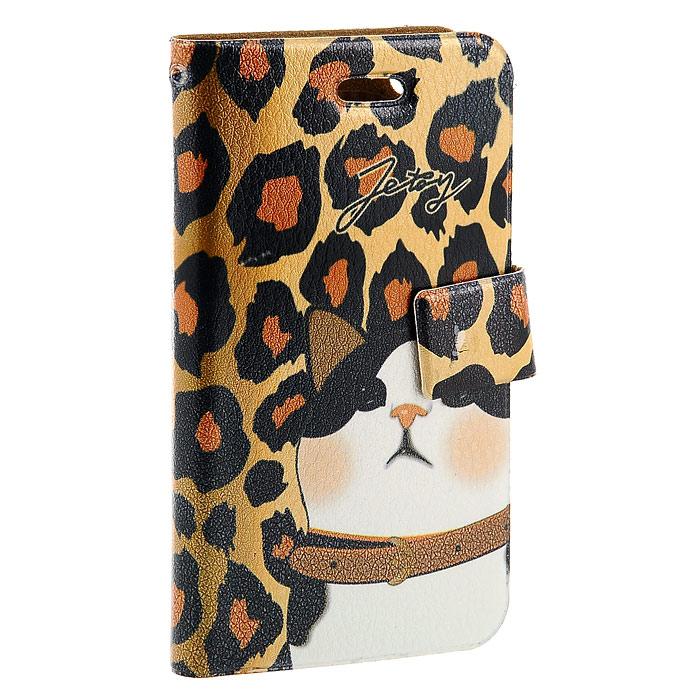 Чехол для iPhone Perfecto Leo. CPH-CT-30CPH-CT-30Модный и яркий чехол Leo выполнен из натуральной кожи имитирующей шкуру леопарда с изображением кошечки. Чехол открывается в виде книжки и закрывается на магнитный хлястик. Он защитит ваш любимый iPhone от пыли, грязи и царапин, а также станет отличным дополнением к вашему имиджу. Такой чехол станет прекрасным подарком для любительницы оригинальных и практичных вещиц.