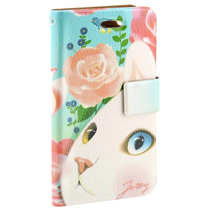 Чехол для iPhone Perfecto Pink Rose. CPH-CT-27CPH-CT-27Модный и яркий чехол Pink Rose выполнен из натуральной кожи и оформлен красочным изображением белой кошечки. Чехол открывается в виде книжки и закрывается на магнитный хлястик. Он защитит ваш любимый iPhone от пыли, грязи и царапин, а также станет отличным дополнением к вашему имиджу. Такой чехол станет прекрасным подарком для любительницы оригинальных и практичных вещиц.