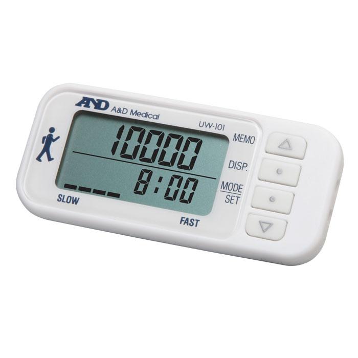 Шагомер AND UW-1016042052AND UW-101 – это новый шагомер от японского производителя, который имеет просто огромные шансы стать вашим постоянным спутником и товарищем, так как именно с его помощью можно отслеживать, насколько быстро вы следуете на пути к здоровью. Данный шагомер чрезвычайно удобно использовать при занятиях фитнесом или аэробикой, во время бега или ходьбы, тем более, что, благодаря наличию датчика с трехмерным измерением, его можно носить в сумке или кармане, на шее или в руке. AND UW-101 разработан на основе современной сенсорной технологии, поэтому измерение и расчеты выполняются в чрезвычайной точностью и корректностью. Кроме шагов, данный аппарат высчитывает потраченные калории. Для отображения полученной информации используется крупный двухстрочный дисплей, а для контроля интенсивности ходьбы специальный индикатор. Память вмещает результаты двухнедельной давности. Также, среди набора дополнительных функций, можно отметить наличие энергосберегающего режима для...