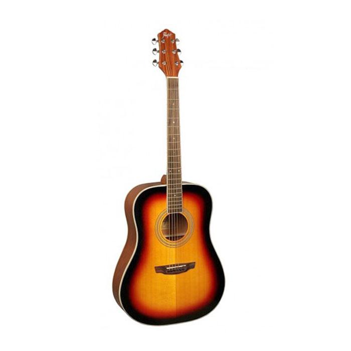 Flight AD-200, Sunburst акустическая гитараЦБ013839Flight AD 200 - прекрасный инструмент, который станет вашим верным спутником в любой ситуации. Эту гитару вы всегда сможете взять с собой на природу. Корпус гитары не требует постоянного ухода, увлажнения и поддержания нужной температуры в помещении. Верхняя дека изготовлена из ели, а нижняя и обечайка - из красного дерева. Скос на верхней деке под правую руку специально спроектирован для комфортной игры.