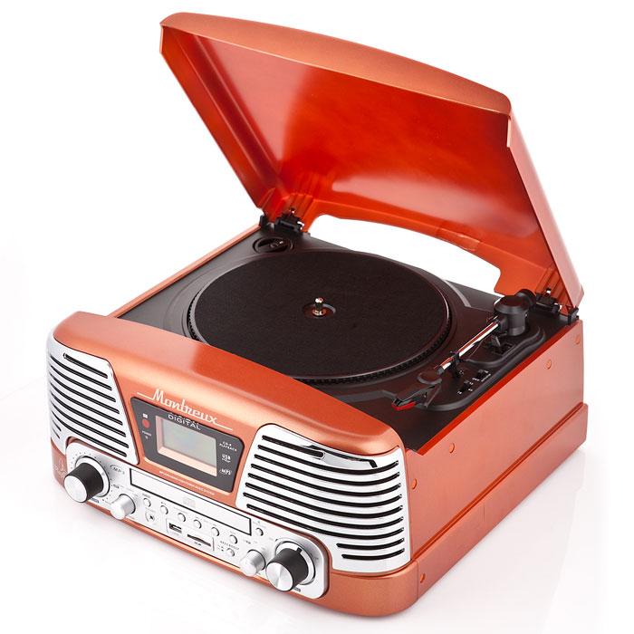 PlayBox Montreux ретро-проигрыватель, Orange (PB-106D)