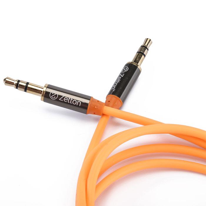 Zetton Metal, Orange аудиокабель AUX (ZTLSAUX1)ZTLSAUX1BOZetton Metal - высококачественный аудио-кабель с коннекторами 3,5 мм для соединения аудиоустройств, наушников, колонок и т.д.