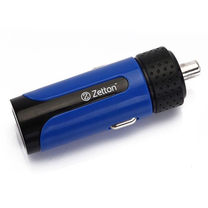 Zetton Life Style 2А автомобильное зарядное устройство, Black Blue (ZTLSCC2A)