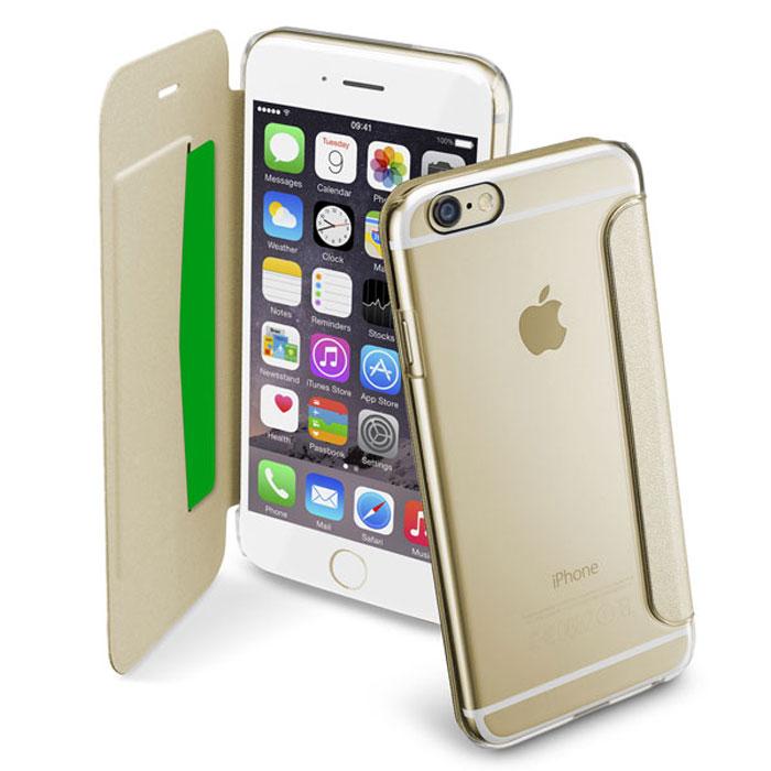 Cellular Line Clear Book чехол для iPhone 6, GoldCLEARBOOKIPH647HЧехол Cellular Line Clear Book для iPhone 6 предназначен для защиты корпуса смартфона от механических повреждений и царапин в процессе эксплуатации. Имеет свободный доступ ко всем разъемам и кнопкам устройства.