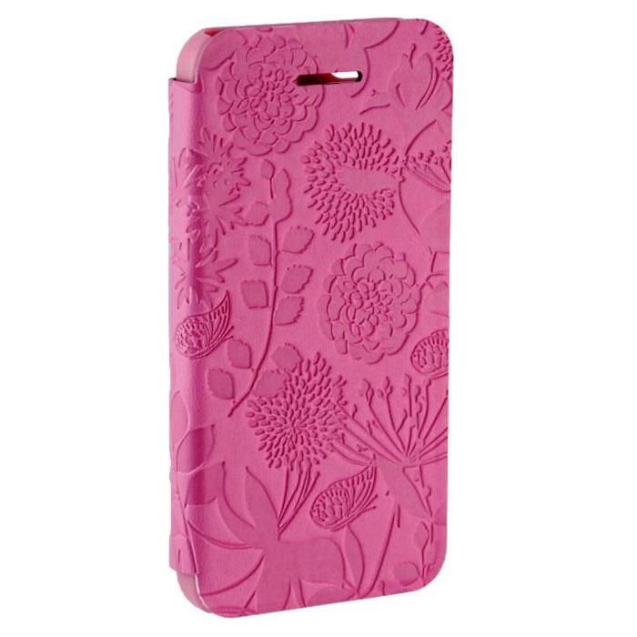 Tutti Frutti Flora чехол для Apple iPhone 5/5s, PinkTF071907Tutti Frutti Flora - стильный аксессуар, который защитит ваше устройство от внешних воздействий, грязи, пыли, брызг. Чехол также поможет при ударах и падениях, смягчая удары, не позволяя образовываться на корпусе царапинам и потертостям. Обеспечивает свободный доступ ко всем разъемам и клавишам устройства.