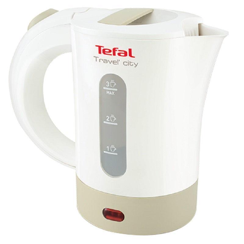 Tefal KO120130 Travel-o-City электрический чайникKO120130Электрический чайник Tefal KO120130 прост в управлении и долговечен в использовании. Чайник имеет индикаторы воды и включения, а фильтр препятствует попаданию накипи в воду