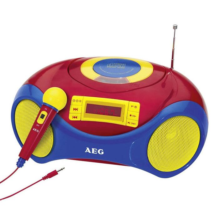 AEG SR 4363 магнитолаSR 4363 buntAEG SR 4363 - компактный детский стереорадиоприемник с цифровым PLL-тюнером и возможностью проигрывания CD/MP3. Загрузка дисков осуществляется в верхней части корпуса. Доступны различные функции воспроизведения и программирования треков. Встроенный CD-дисплей отображает всю необходимую информацию при прослушивании. Магнитола может работать как от сети, так и 4 батареек UM2 (тип С). Разъёмы: порт USB 2.0, вход AUX Для детей старше 3 лет