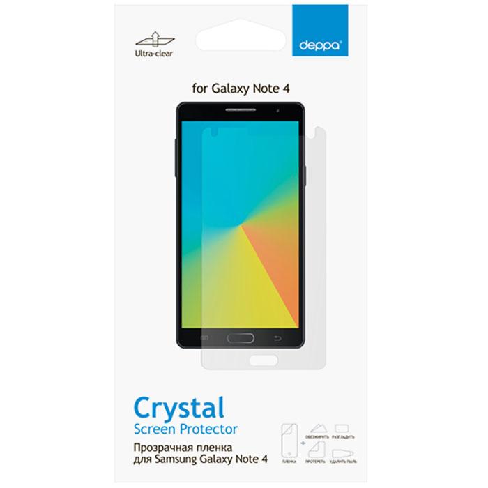 Deppa защитная пленка для Samsung Galaxy Note 4, прозрачная61352Прозрачная пленка Deppa защитит устройство от царапин. Пленка изготовлена из трехслойного японского материала PET.