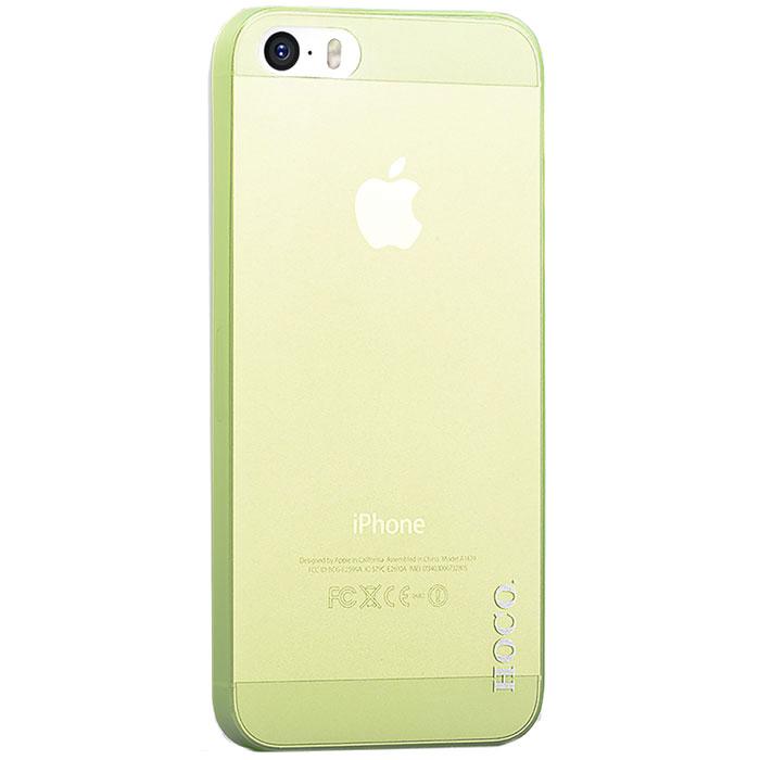 Hoco Thin Series защитная крышка для iPhone 5/5s, GreenR0002092Задняя крышка Hoco Thin Series для iPhone 5/5s гарантирует надежную защиту корпуса вашего смартфона от внешнего воздействия (пыль, влага, царапины). Чехол изготовлен из качественного материала и имеет отверстия для камеры, разъемов и кнопок.