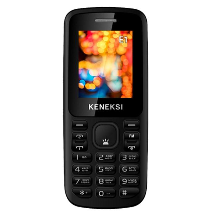 Keneksi E1, BlackE1 BlackKENEKSI E1 - недорогой мобильный телефон с ярким цветным дисплеем и в классическом корпусе порадует вас своей надежностью, простотой в управлении и эргономикой. Аппарат также поддерживает работы двух сим-карт в режиме ожидания, так что вы можете выбрать удобные для вас тарифные планы или совмещать рабочий и личный телефонные номера. Телефон сертифицирован Ростест и имеет русифицированную клавиатуру, меню и Руководство пользователя.