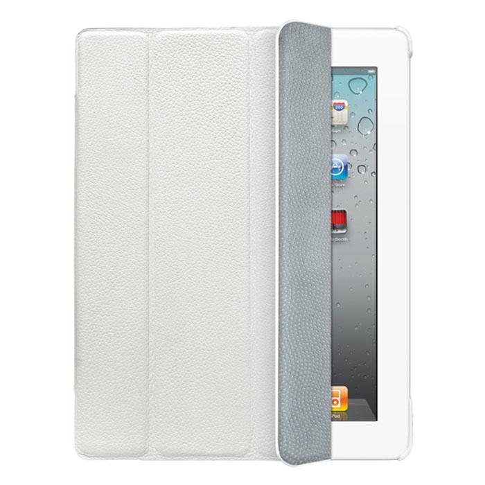 Deppa Ultra Cover Leather �����-��������� ��� iPad 2/ iPad new/ iPad 4, White