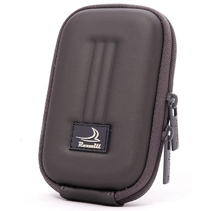 Roxwill B10, Dark Grey чехол для фото- и видеокамерB10 dark greyRoxwill B10 - надежный чехол для компактных фотокамер. Он гарантированно защитит вашу камеру от случайных ударов и царапин, а также от пыли и влаги. Изделие изготовлено из EVA (вспененная резина). Данный материал не подлежит воздействию агрессивных веществ и предохраняет фотоаппарат при падении. Для переноски предусмотрен регулируемый шейный ремешок и возможность крепления на поясном ремне.