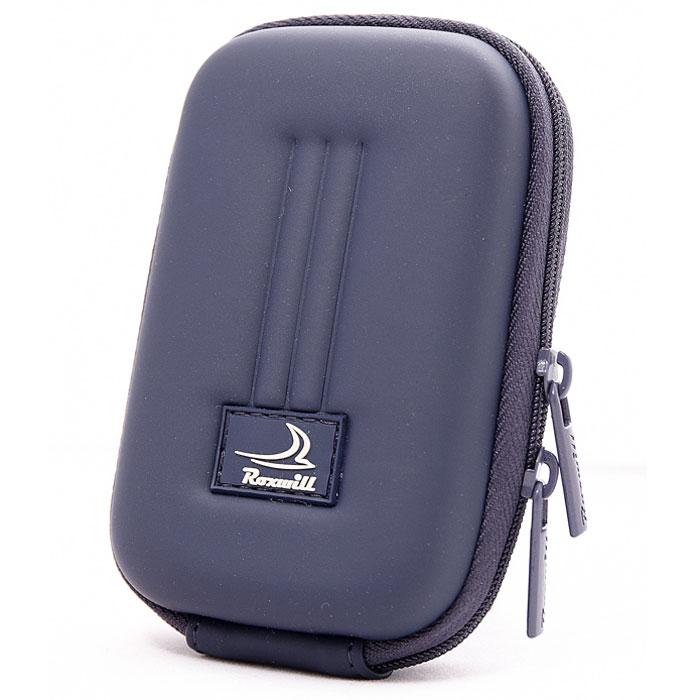 Roxwill B40, Dark Blue чехол для фото- и видеокамерB40 dark blueRoxwill B40 - надежный чехол для компактных фотокамер. Он гарантированно защитит вашу камеру от случайных ударов и царапин, а также от пыли и влаги. Изделие изготовлено из EVA (вспененная резина). Данный материал не подлежит воздействию агрессивных веществ и предохраняет фотоаппарат при падении. Для переноски предусмотрен регулируемый шейный ремешок и возможность крепления на поясном ремне.