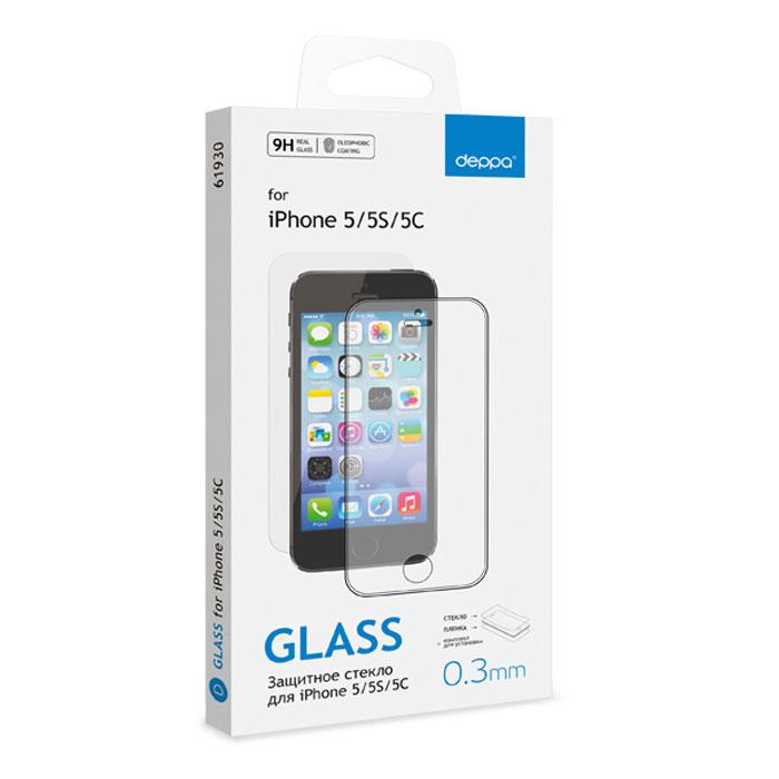 Deppa защитное стекло для Apple iPhone 5/5s/5c, прозрачное (0. 3 мм)