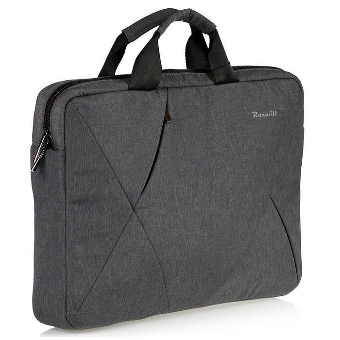 Roxwill DB50, Dark Grey cумка для ноутбука 15.4DB50 dark greyСумка Roxwill DB50 для ноутбуков до 15.4. Основной материал - высококачественный нейлон, который надежно защитит содержимое от пыли, влаги и царапин. Для защиты от ударов сумка имеет подкладку из синтетического материала. Имеет несколько карманов для аксессуаров и отдел для документов. Двойная застежка молния для удобного доступа к ноутбуку. Дно и бока кармана для ноутбука усилены материалом Memory Form для защиты ноутбука от случайных ударов. Сумка дополнена плечевым ремнем регулируемой длины. На внешней задней стороне - карман на застежке-молнии.