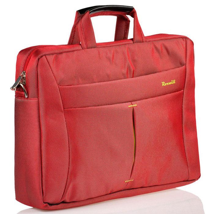 Roxwill DF60, Red cумка для ноутбука 15.6DF60 redСумка Roxwill DF60 для ноутбуков диагональю до 15.6. Основной материал - высококачественный нейлон, который надежно защитит содержимое от пыли, влаги и царапин. Для защиты от ударов сумка имеет подкладку из синтетического материала. Имеет несколько карманов для аксессуаров и отдел для документов. Двойная застежка молния для удобного доступа к ноутбуку Металлическая фурнитура Регулируемый съемный плечевой ремень. Крепление на багажную сумку-тележку