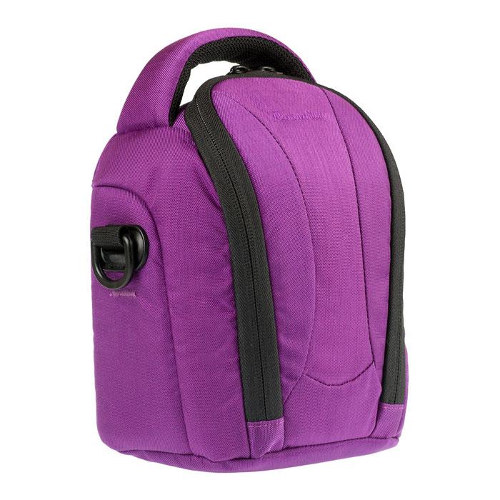 Roxwill NEO-20, Purple чехол для фото- и видеокамерNEO-20 purpleСтильная сумка Roxwill NEO-20 с цветными вставками для зеркальной фотокамеры с установленным объективом. Надежно защитит вашу камеру от случайных ударов и царапин, а также от пыли и влаги. Верхний откидной клапан закрывается на двойную застежку «молния» и обеспечивает быстрый доступ к фотокамере. Имеется два внутренних кармана для карт памяти. Для переноски предусмотрены регулируемый наплечный ремень и удобная ручка.
