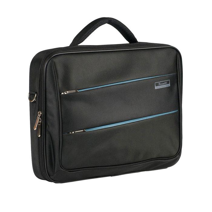 Roxwill DD70, Black cумка для ноутбука 17DD70 blackСумка Roxwill DD70 для ноутбуков диагональю до 17. Основной материал - высококачественный нейлон, который надежно защитит содержимое от пыли, влаги и царапин. Карбоновая рама надежно защищает ноутбук от торцевых ударов. Отдел для ноутбука имеет ремень для фиксации. В зависимости от размера ноутбука здесь можно разместить и зарядное устройство. Три внешних кармана - для документов, для аксессуаров и гаджетов Двойная застежка молния для удобного доступа к ноутбуку Металлическая фурнитура Регулируемый съемный плечевой ремень.