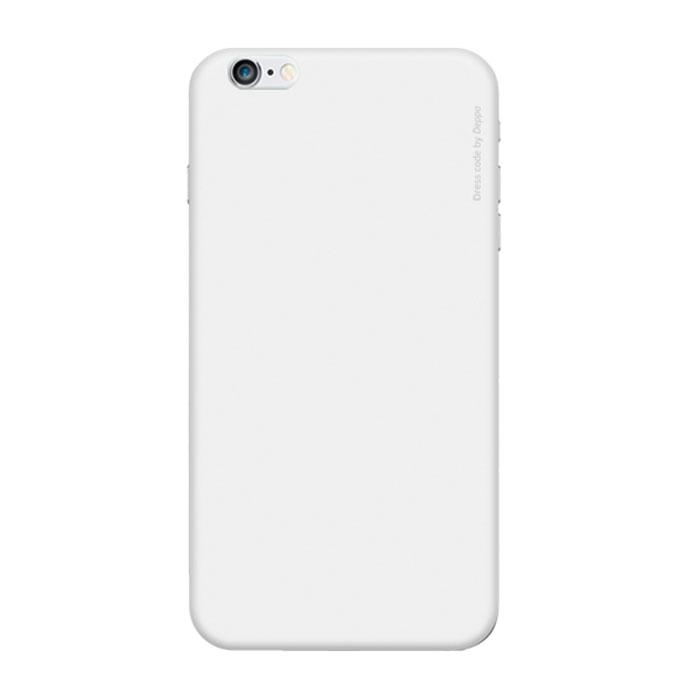 Deppa Air Case чехол для iPhone 6 Plus, White83122Чехол Deppa Air Case для iPhone 6 Plus предназначен для защиты корпуса смартфона от механических повреждений и царапин в процессе эксплуатации. Имеется свободный доступ ко всем разъемам и кнопкам устройства. Чехол изготовлен из поликарбоната Teijin производства Японии с покрытием Soft touch. В комплект также входит защитная пленка из трехслойного японского материала PET.