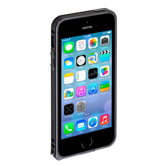 Deppa Alum Bumper чехол-бампер для iPhone 5/5s, Black63133Чехол-бампер Deppa Alum Bumper для iPhone 5/5s предназначен для защиты корпуса смартфона от механических повреждений и царапин в процессе эксплуатации. Имеется свободный доступ ко всем разъемам и кнопкам устройства. В комплект также входит защитная пленка из трехслойного японского материала PET.