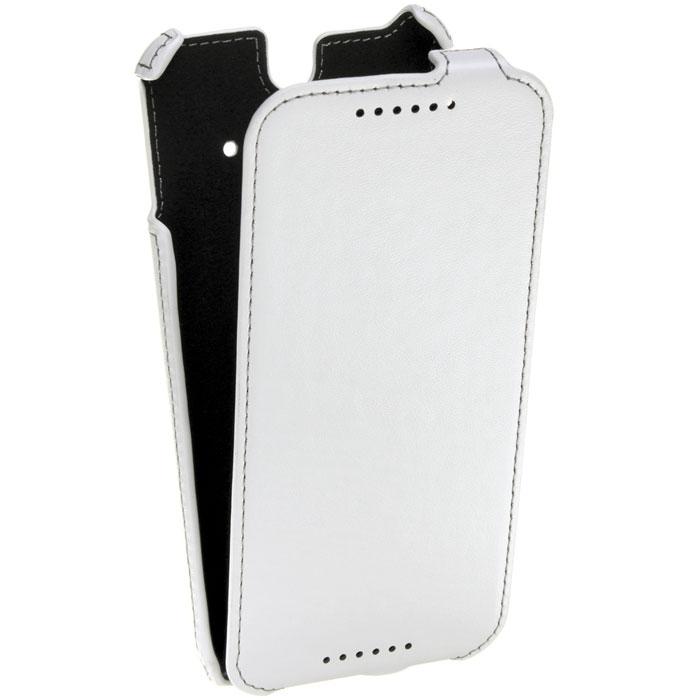 Untamo Accentika Flip чехол для HTC One (M8)/Ace, WhiteUACKFHTCM8ACEWHСверхтонкий чехол Untamo Accentika Flip изготовлен из эко-кожи и прошит контрастной строчкой по краю. Плотно прилегает к смартфону, формируя жесткий каркас с поверхностью матовой эко-кожи. Подкладка из микрофибры обеспечивает дополнительную защиту устройства от механических повреждений.