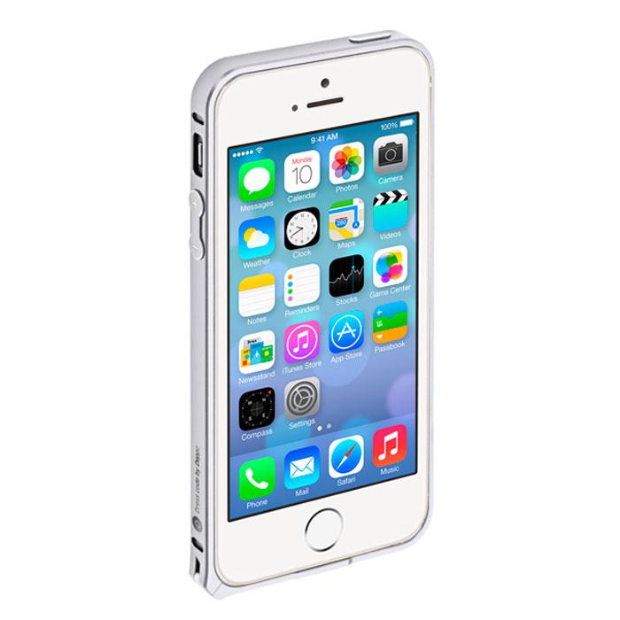 Deppa Alum Bumper чехол-бампер для iPhone 5/5s, Silver63134Чехол-бампер Deppa Alum Bumper для iPhone 5/5s предназначен для защиты корпуса смартфона от механических повреждений и царапин в процессе эксплуатации. Имеется свободный доступ ко всем разъемам и кнопкам устройства. В комплект также входит защитная пленка из трехслойного японского материала PET.