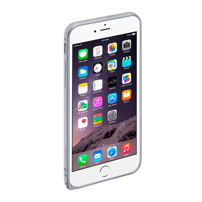 Deppa Alum Bumper чехол-бампер для iPhone 6 Plus, Silver