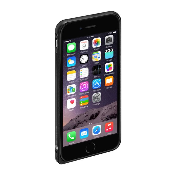 Deppa Alum Bumper чехол-бампер для iPhone 6, Black63142Чехол-бампер Deppa Alum Bumper для iPhone 6 предназначен для защиты корпуса смартфона от механических повреждений и царапин в процессе эксплуатации. Имеется свободный доступ ко всем разъемам и кнопкам устройства.