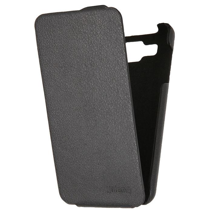 Untamo Accento Flip чехол для Explay Pulsar, BlackUACFEXPPULBLУльтратонкий чехол Untamo Accento Flip из эко-кожи с металлической основой для Explay Pulsar. Плотно прилегает к смартфону, формируя жесткий каркас Подкладка из микрофибры обеспечивает дополнительную защиту устройства от механических повреждений.