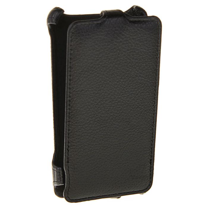 Ecostyle Shell чехол для Sony Xperia E1 Dual, BlackESH-F-SONE1-BLЧехол-флип Ecostyle Shell для Sony Xperia E1 Dual надежно защитит ваш телефон от механических повреждений, грязи и пыли. Конструкция чехла обеспечивает свободный доступ к разъемам, камере и основным функциям смартфона. Мягкая внутренняя поверхность защищает экран устройства от царапин.