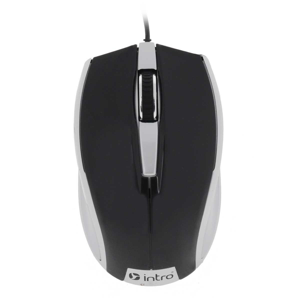 Intro MU104, Black Silver мышьMU104Стильная проводная мышь Intro MU104 обладает эргономичным дизайном и отлично подходит как для игр, так и для работы в офисе.