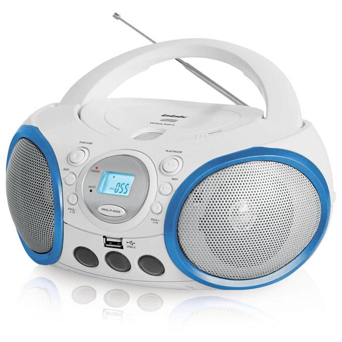 BBK BX150U, White Blue CD/MP3 магнитола
