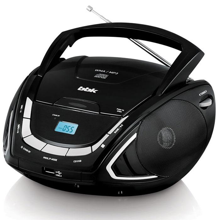BBK BX190U, Black Silver CD/MP3 магнитолаBX190UКомпактная и удобная в использовании CD/MP3-магнитола BBK BX190U с LCD-дисплеем и USB-портом воспроизводит распространенные аудиоформаты: MP3, WMA, CD-DA. В устройстве имеется встроенный аналоговый тюнер для приема радиостанций FM/AM-диапазона. Наличие линейного входа позволяет слушать музыку не только с CD-дисков и USB-носителей, но и с портативного плеера. Выбрав функцию RANDOM, можно проигрывать треки в произвольном порядке, а используя функцию P-MODE, программировать воспроизведение музыкальных дорожек в желаемом порядке. Питание от батарей: 6 х R14/UM-2