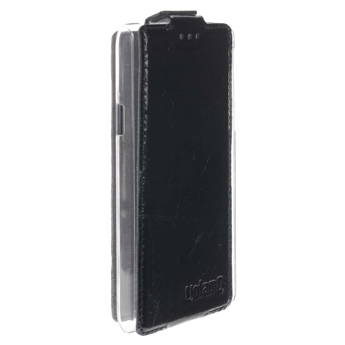 Untamo Timber чехол-флип для Huawei Honor II, Black (UTIMFHH2B)