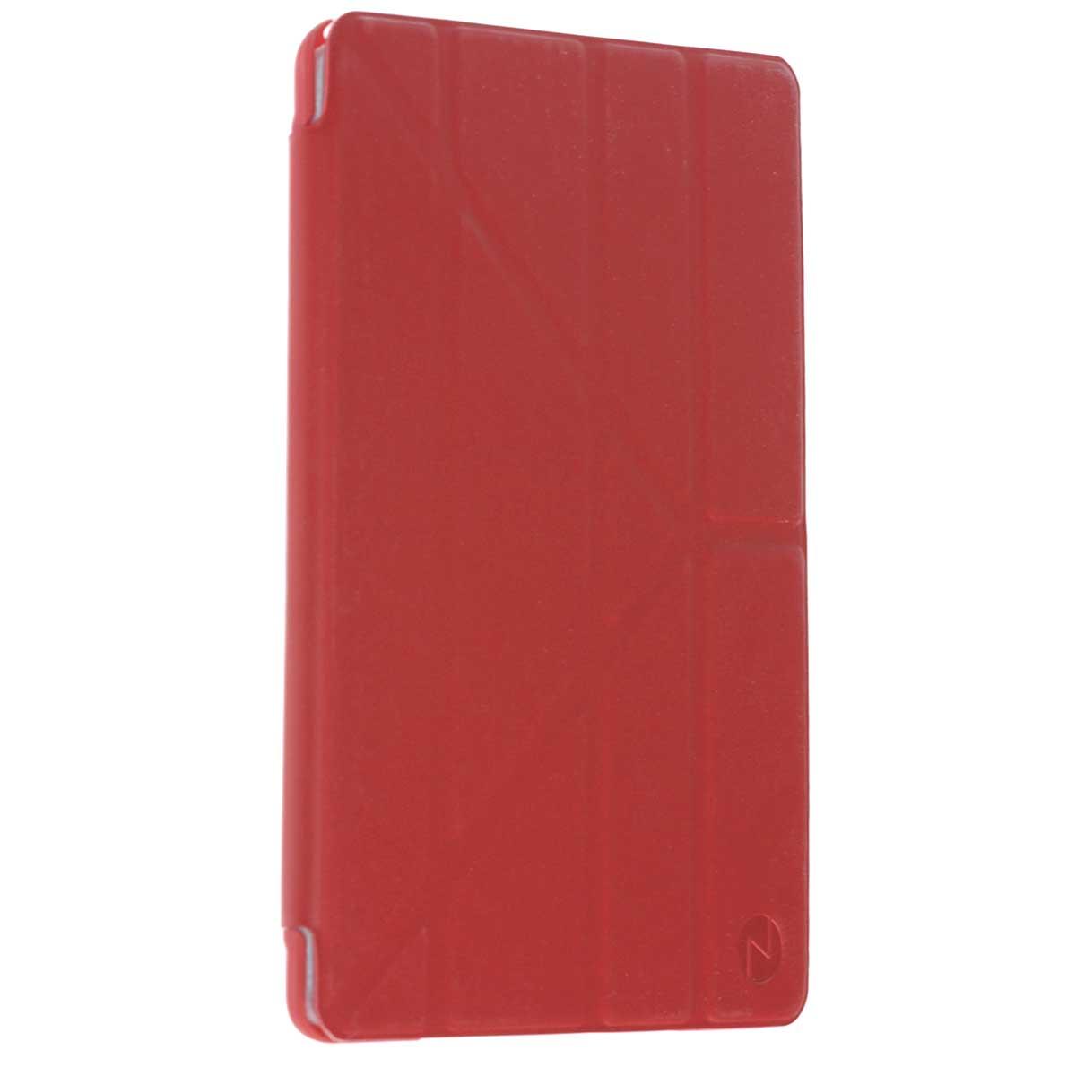 Onzo Minimal чехол для Apple iPad Air 2, RedOZ452103Onzo Minimal - чехол-книжка с мягкой внутренней подкладкой, которая защищает экран от царапин. Имеет покрытие Soft touch, а режим Sleep Mode автоматически вводит iPad Air 2 в режим сна и выводит из него при открытии и закрытии. Мультифункциональная Y-образная крышка, помогает использовать девайс в горизонтальном и вертикальном положении под наиболее удобным наклоном.