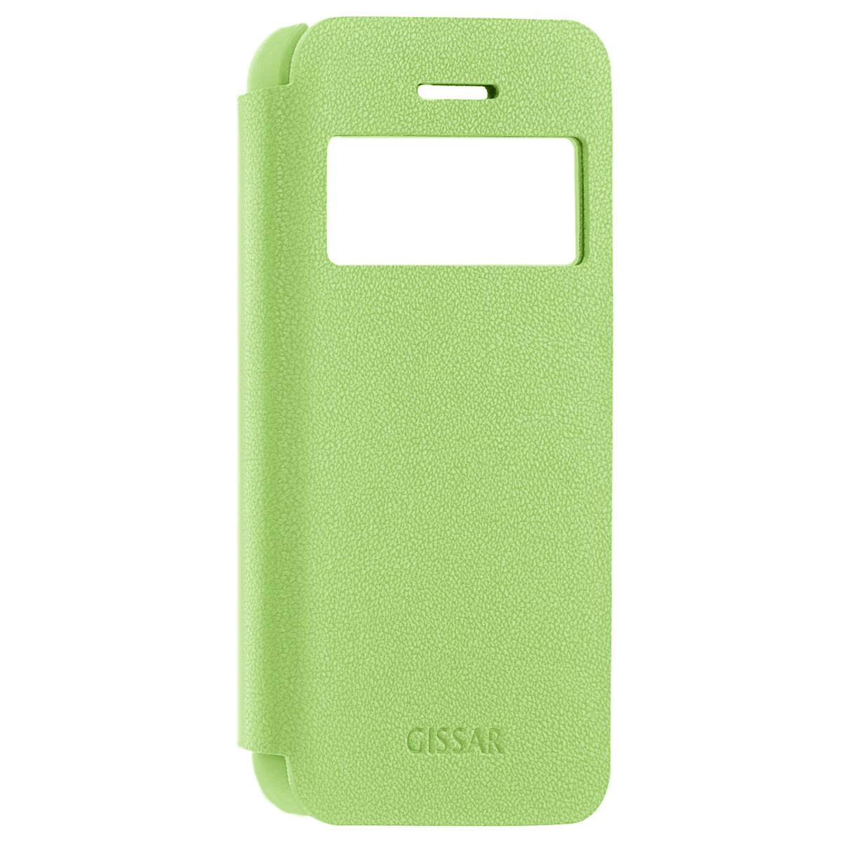 Gissar Galet Window чехол для Apple iPhone 5c, Green51747Чехол Gissar Galet Window для iPhone 5C предназначен для защиты корпуса телефона от механических повреждений и царапин в процессе эксплуатации. Имеет свободный доступ ко всем разъемам и кнопкам устройства.