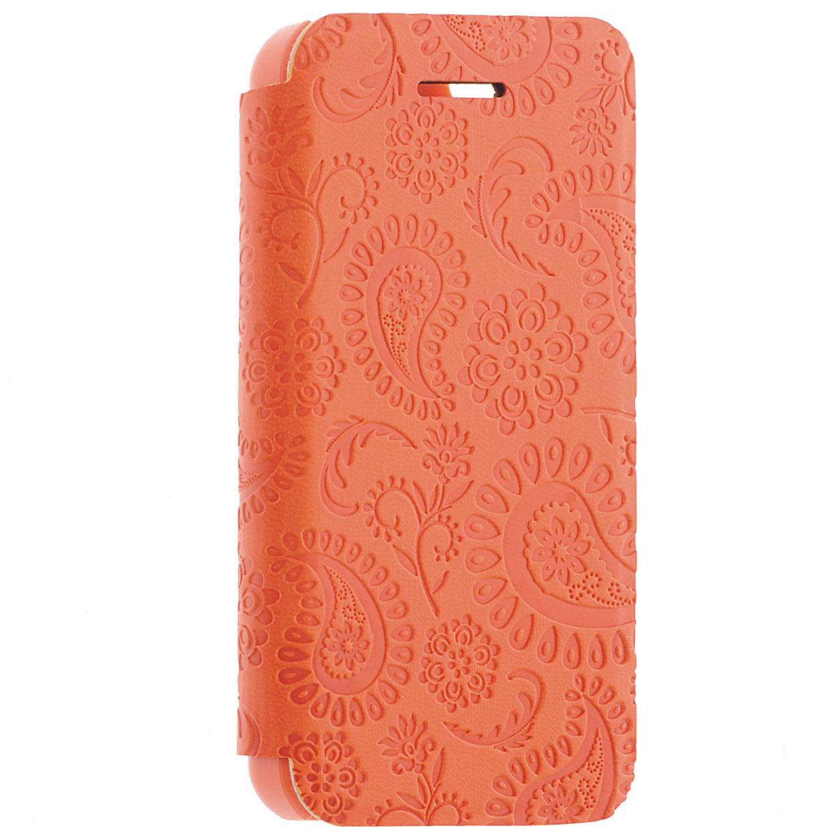 Gissar Paisley чехол для Apple iPhone 5c, Orange51266Чехол Gissar Paisley для iPhone 5C предназначен для защиты корпуса смартфона от механических повреждений и царапин в процессе эксплуатации. Имеет свободный доступ ко всем разъемам и кнопкам устройства.
