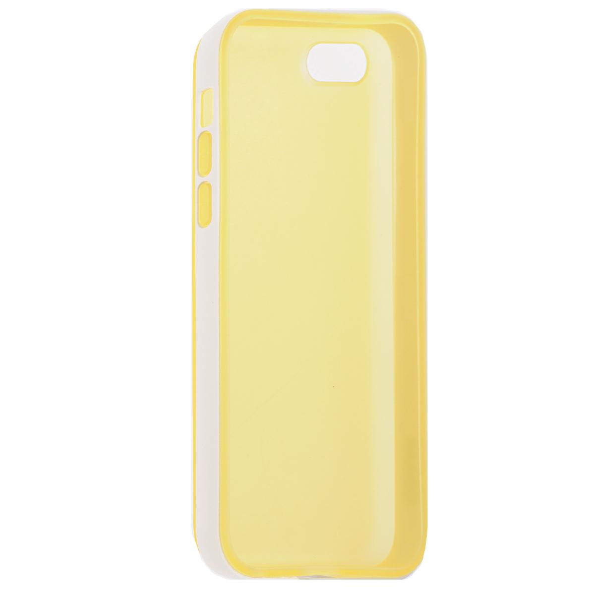 Gissar Scene чехол для Apple iPhone 5c, Yellow51976Чехол Gissar Scene для iPhone 5C предназначен для защиты корпуса смартфона от механических повреждений и царапин в процессе эксплуатации. Имеет свободный доступ ко всем разъемам и кнопкам устройства. Чехол можно использовать как бампер, убрав заднюю часть.