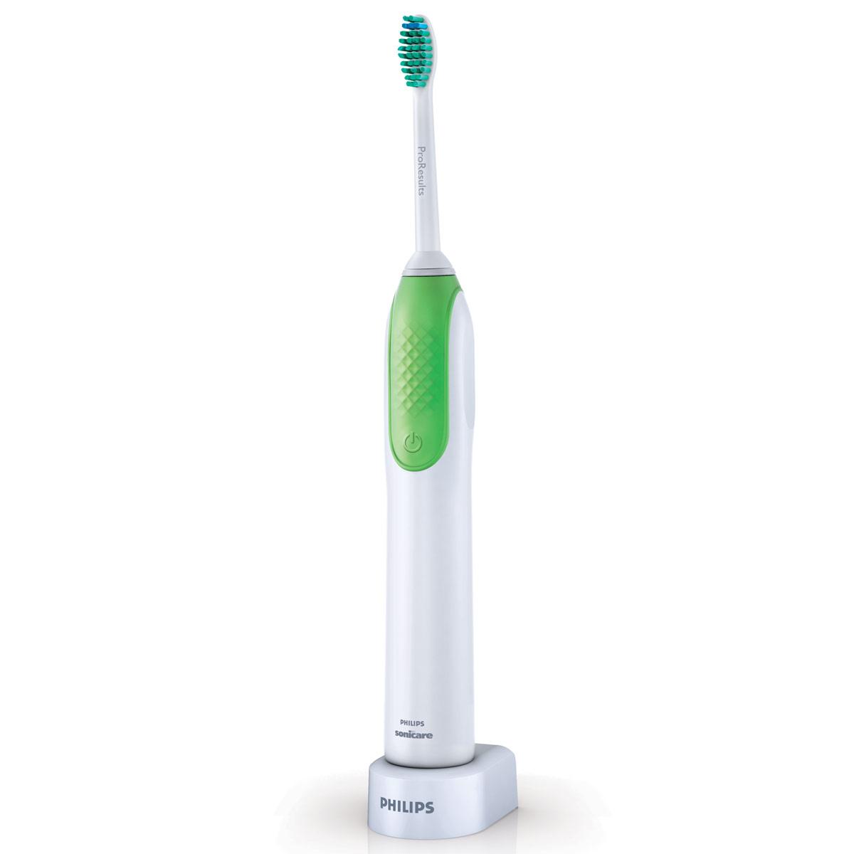 Электрическая зубная щетка Philips HX3110/00HX3110/00Электрическая зубная щетка Philips HX3110/00 удобна в использовании, как обычная зубная щетка, но более эффективно удаляет налет и снижает риск возникновения кариеса. Технология Sonic: Совершает больше чистящих движений за 1 день, чем Ваша обычная зубная щетка за месяц. Около 15 000 чистящих движений в минуту. Простая в использовании: Тонкая эргономичная ручка обеспечивает удобство использования — как и при использовании обычной зубной щетки. Деликатная и безопасная: Электрическую зубную щетку Philips HX3110/00 можно безопасно использовать для чистки: ортодонтических скоб (при чистке скоб чистящая насадка изнашивается быстрее замещений дефектов зубов пломб, коронок, коронок с покровными фасетками) и зубодесневых карманов. Расположенная под углом шейка насадки: Уникальная расположенная под углом шейка насадки упрощает очистку задних зубов, удаляя налет в труднодоступных участках. Smartimer: Таймер...