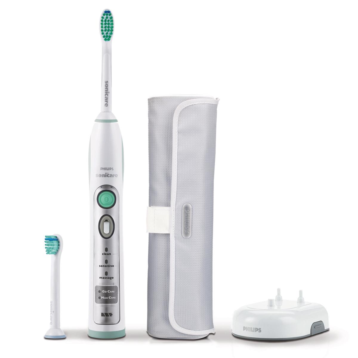 Электрическая зубная щетка Philips Sonicare HX6902/02HX6902/02Электрическая зубная щетка Philips HX6902/02 - это гарантированный способ улучшить здоровье полости рта. Эта зубная щетка выполнена с учетом Ваших индивидуальных потребностей в аспекте ухода за полостью рта. Запатентованная звуковая технология: Уникальное динамическое чистящее воздействие Sonicare мягко и эффективно проникает глубоко в межзубные промежутки и вдоль десен. Обеспечивает естественную белизну зубов: Благодаря очистке с помощью динамического потока жидкости, увеличенной амплитуде движения щетинок и прямому контакту с каждым зубом, электрическая зубная щетка эффективно удаляет зубной налет для естественной белизны зубов. Улучшает состояние десен: Электрическая зубная щетка Philips HX6902/02 гарантирует оптимальную чистку между зубами и вдоль десен и улучшает состояние десен всего за две недели. Превосходно справляется с чисткой межзубных промежутков и удаляет значительно больше налета по сравнению с обычной зубной щеткой ...