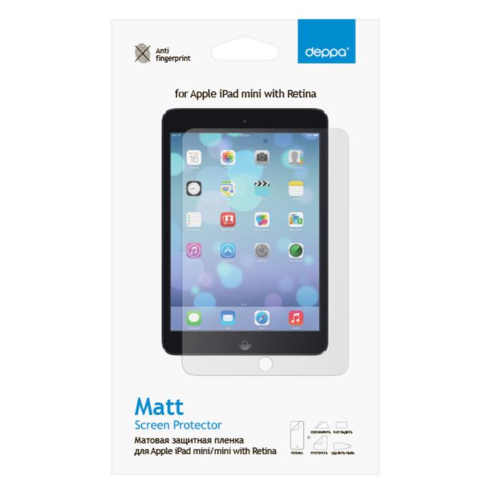 Deppa защитная пленка для Apple iPad mini/mini with Retina, матовая61001Матовая пленка Deppa защитит устройство от царапин. Пленка изготовлена из трехслойного японского материала PET.