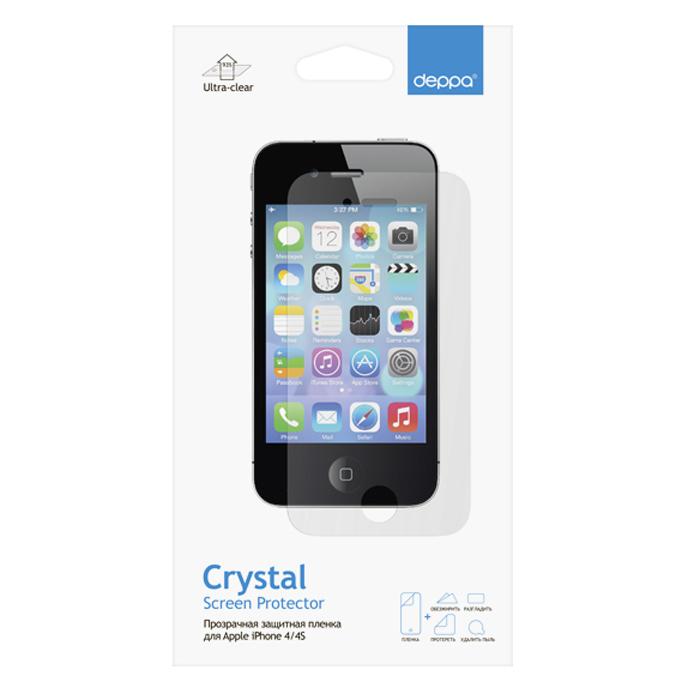 Deppa защитная пленка для Apple iPhone 4/4S, прозрачная61109Прозрачная пленка Deppa защитит устройство от царапин. Пленка изготовлена из трехслойного японского материала PET.